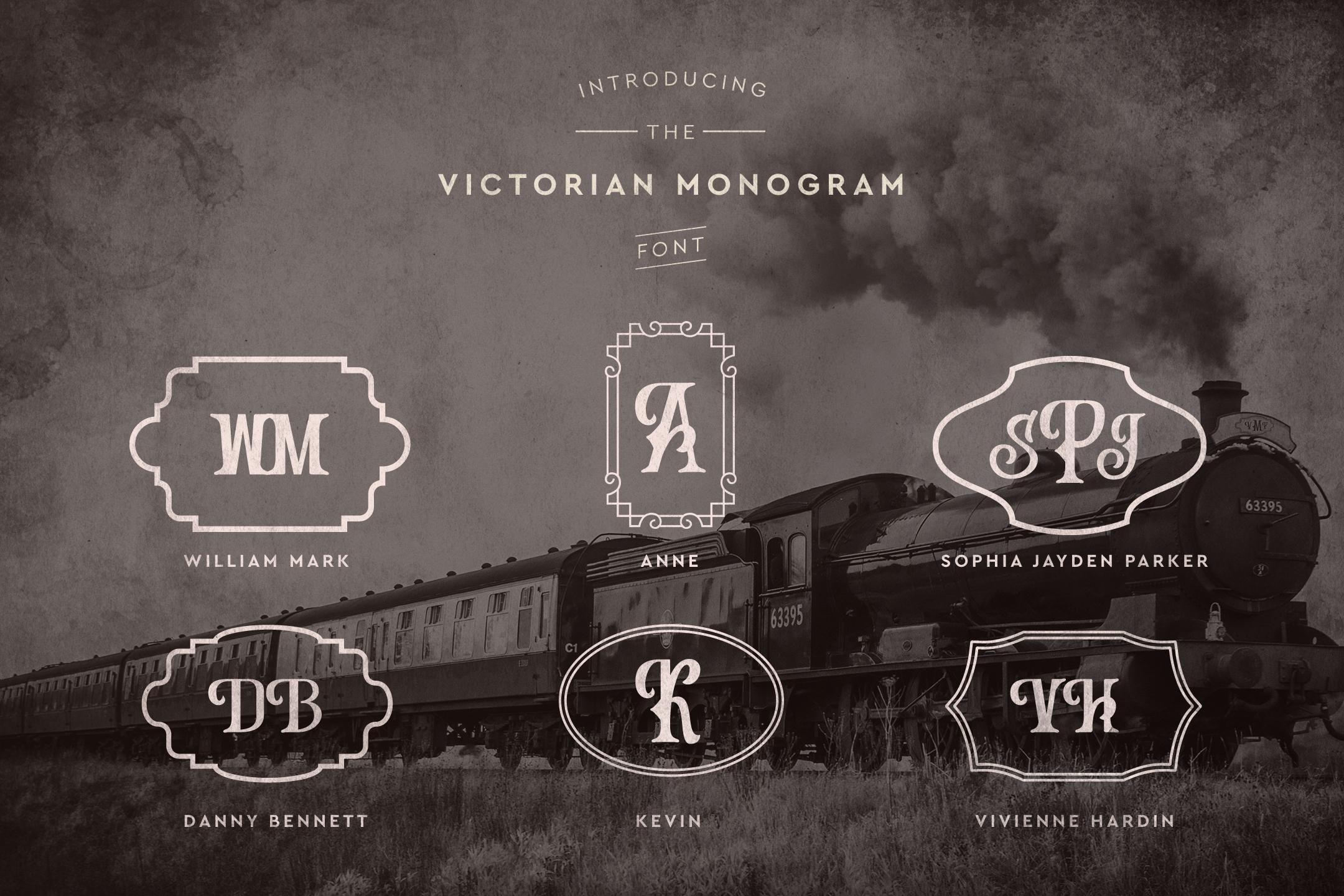 Victorian Monogram Font example image 3