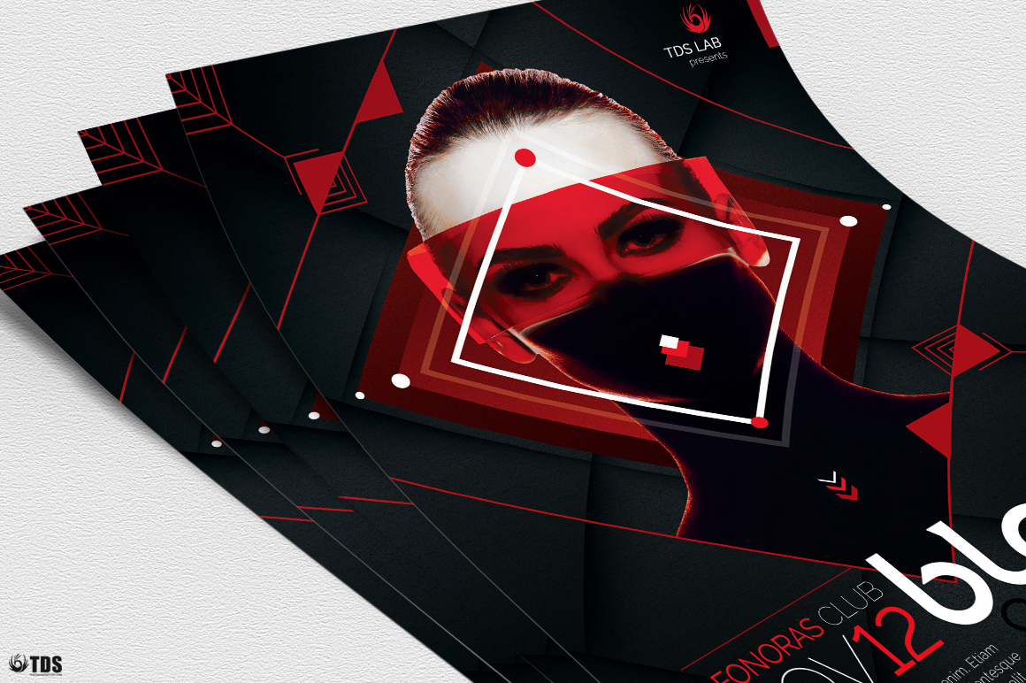 Black and Red Flyer Template V4 example image 5