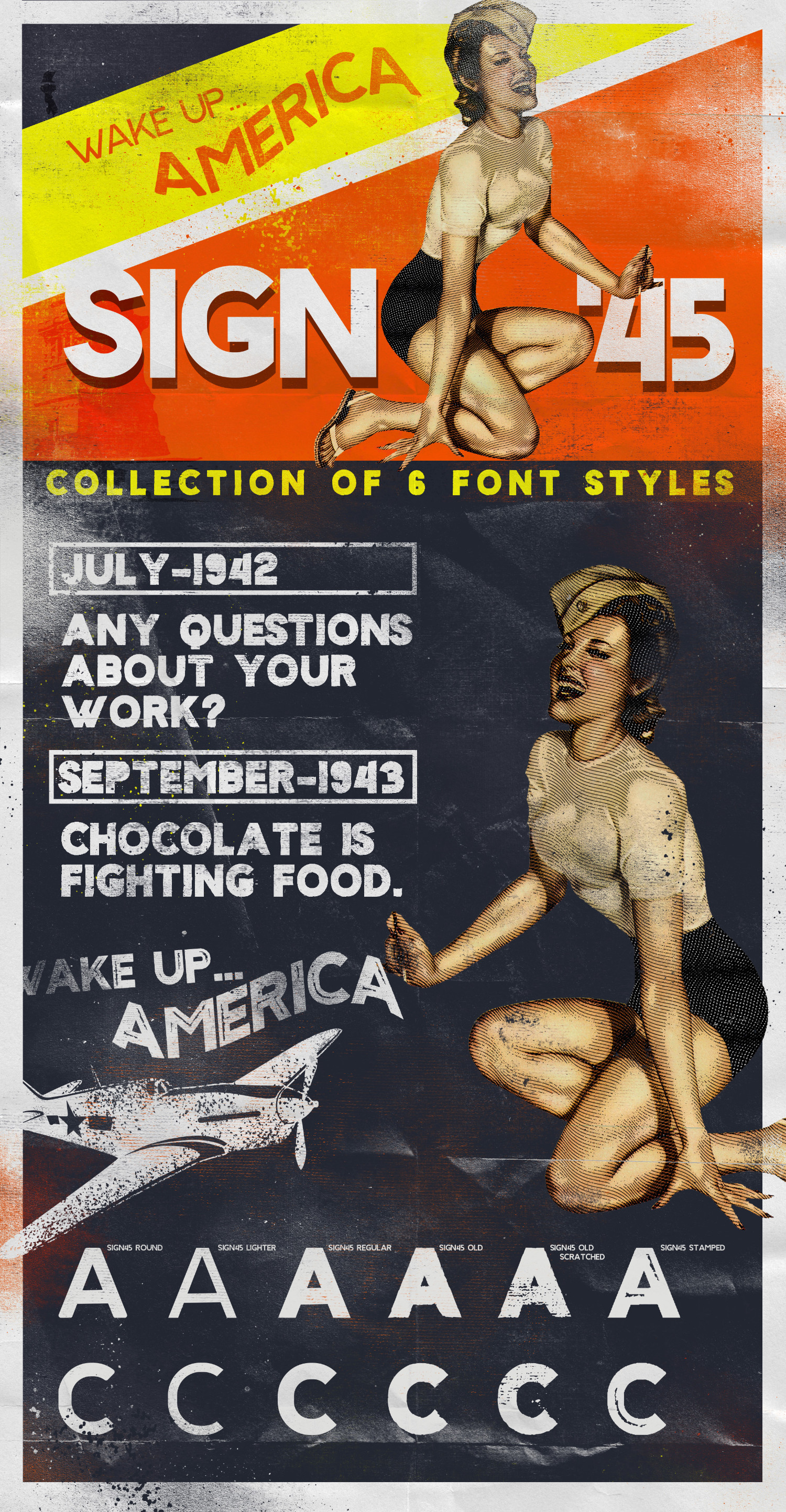 Sign '45 Typeface example image 7