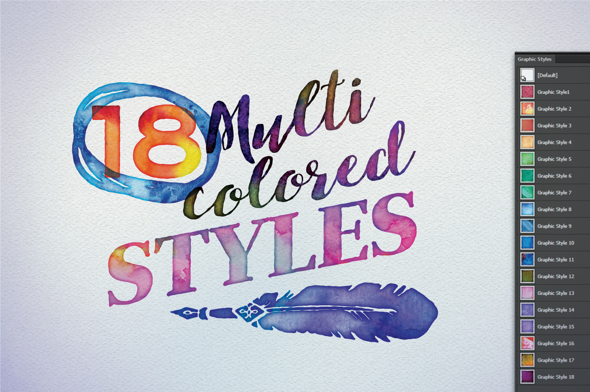 Watercolor Vector Styles Illustrator example image 5