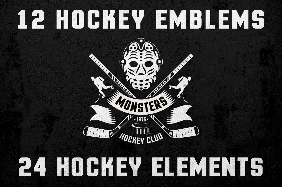 Hockey Logo on Dark example image 1