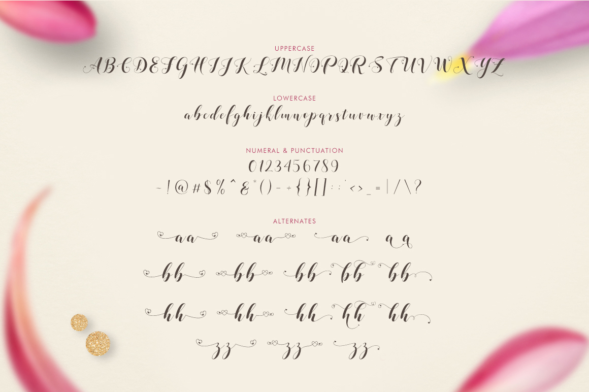 Loveya Script (Font Duo + Extras) example 9