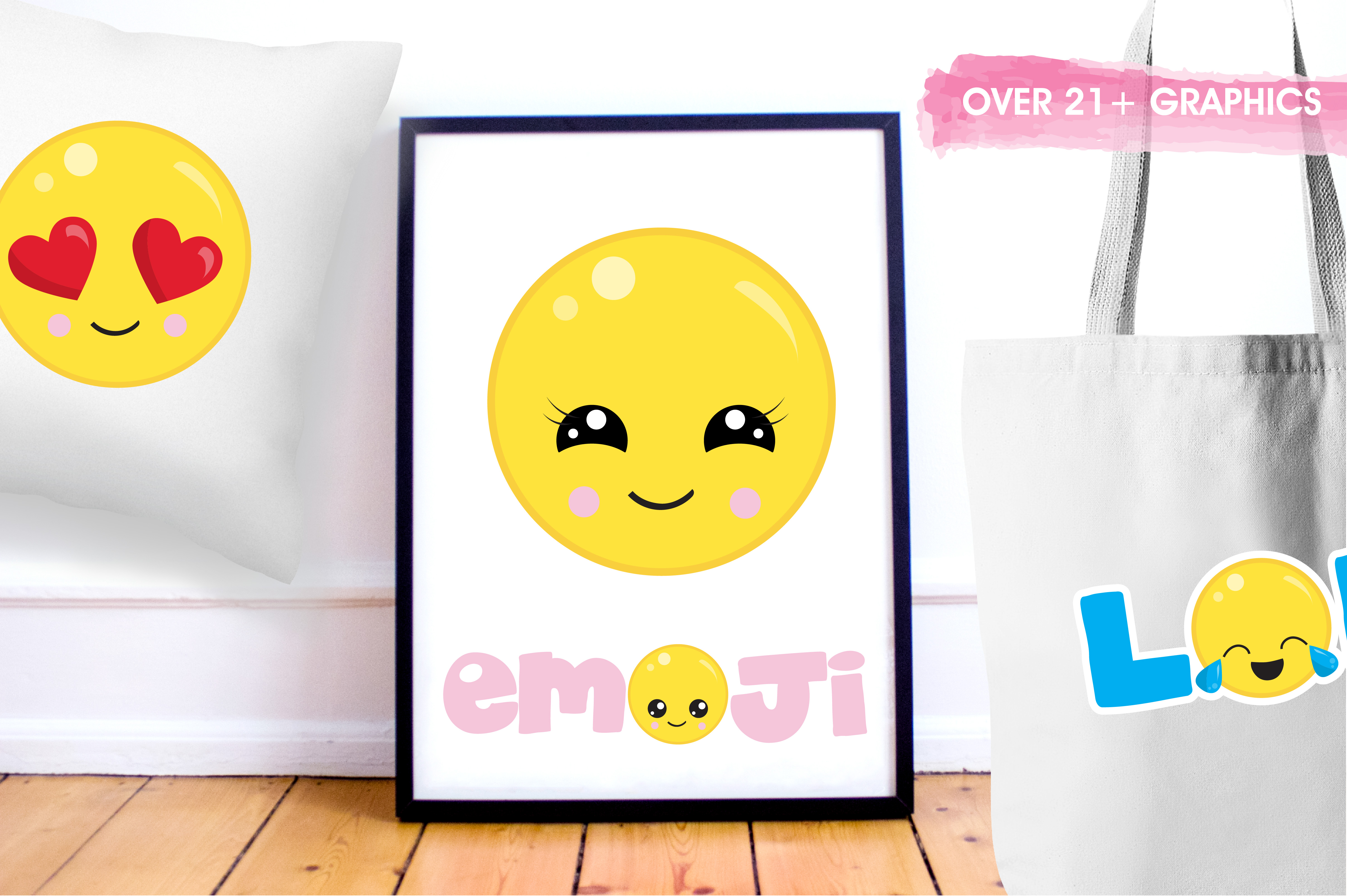 Cute emoji graphics and illustrations example image 5