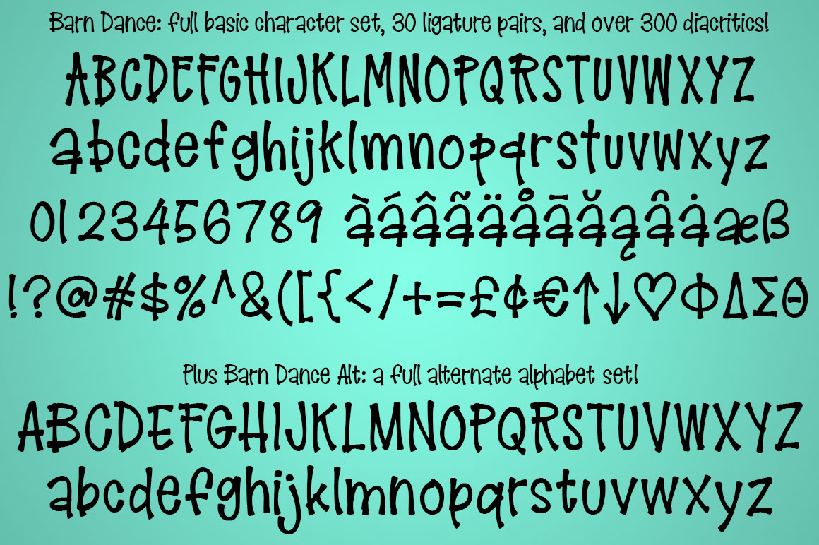 Barn Dance - a homey little font! example image 2
