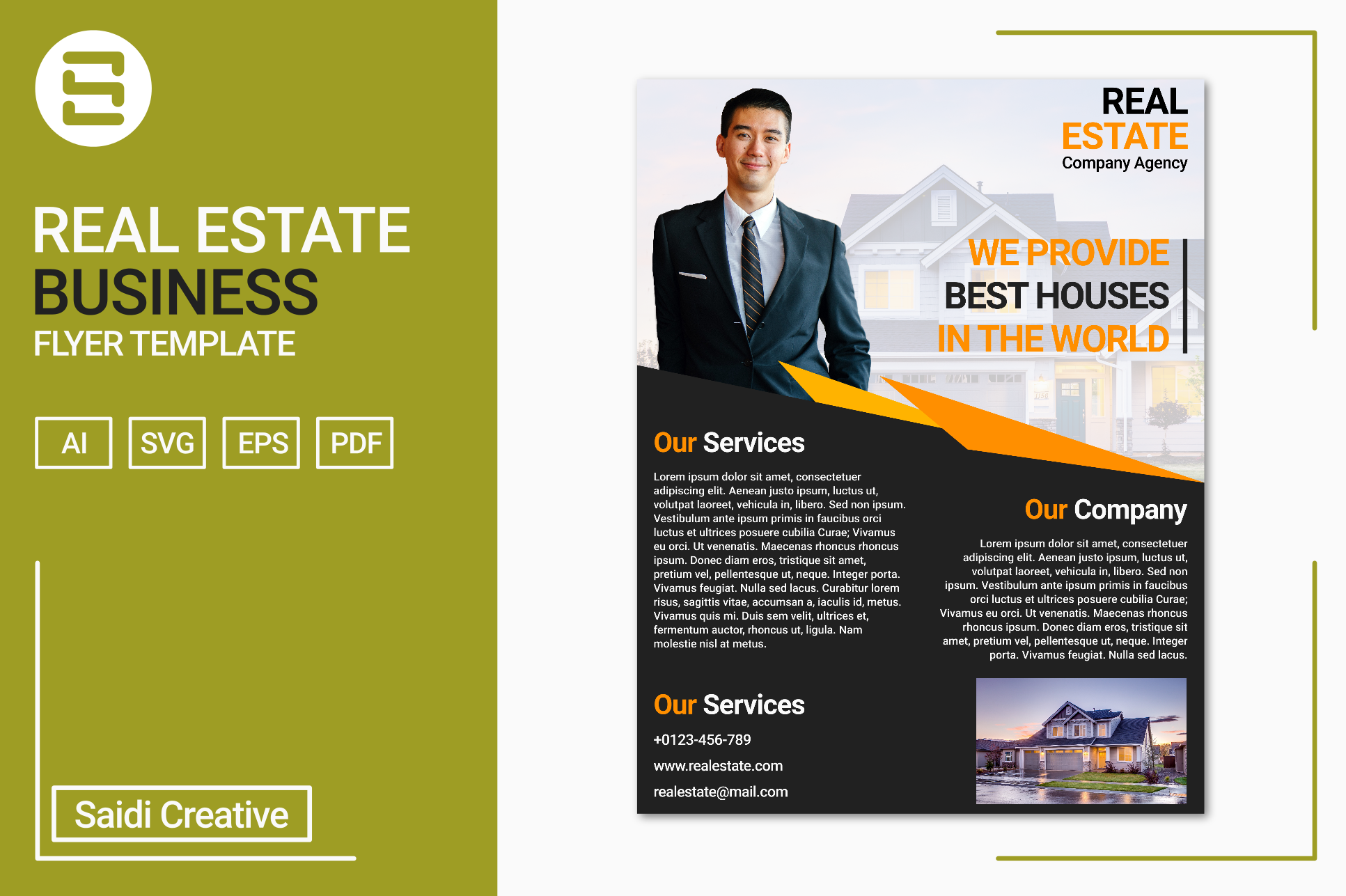 Real estate business flyer template des design bundles real estate business flyer template design us flyer size example image 1 wajeb Image collections