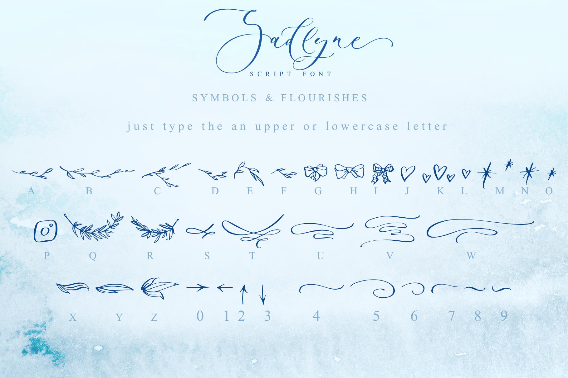 Sadlyne calligraphic font & extras example image 17