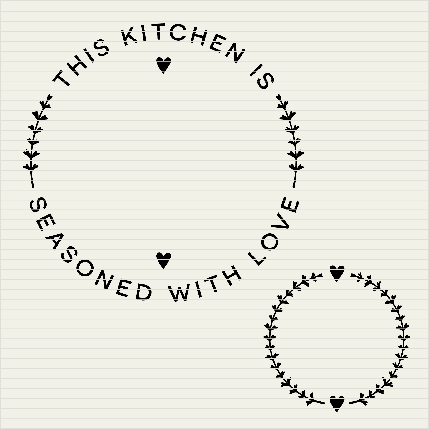 DIY personalize SVG Kitchen Seasoned with Love monogram frame- SVG DXF EPSPNG - Cricut & Silhouette - clean cutting files example image 3