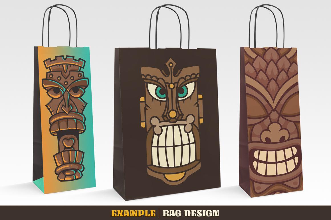 Tiki Head Illustrations Set example image 8
