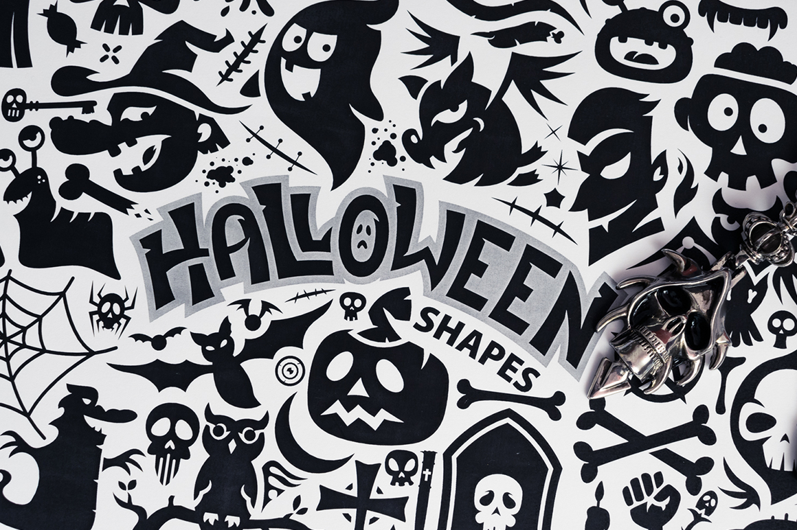 Halloween Vector Shapes Collection example image 7
