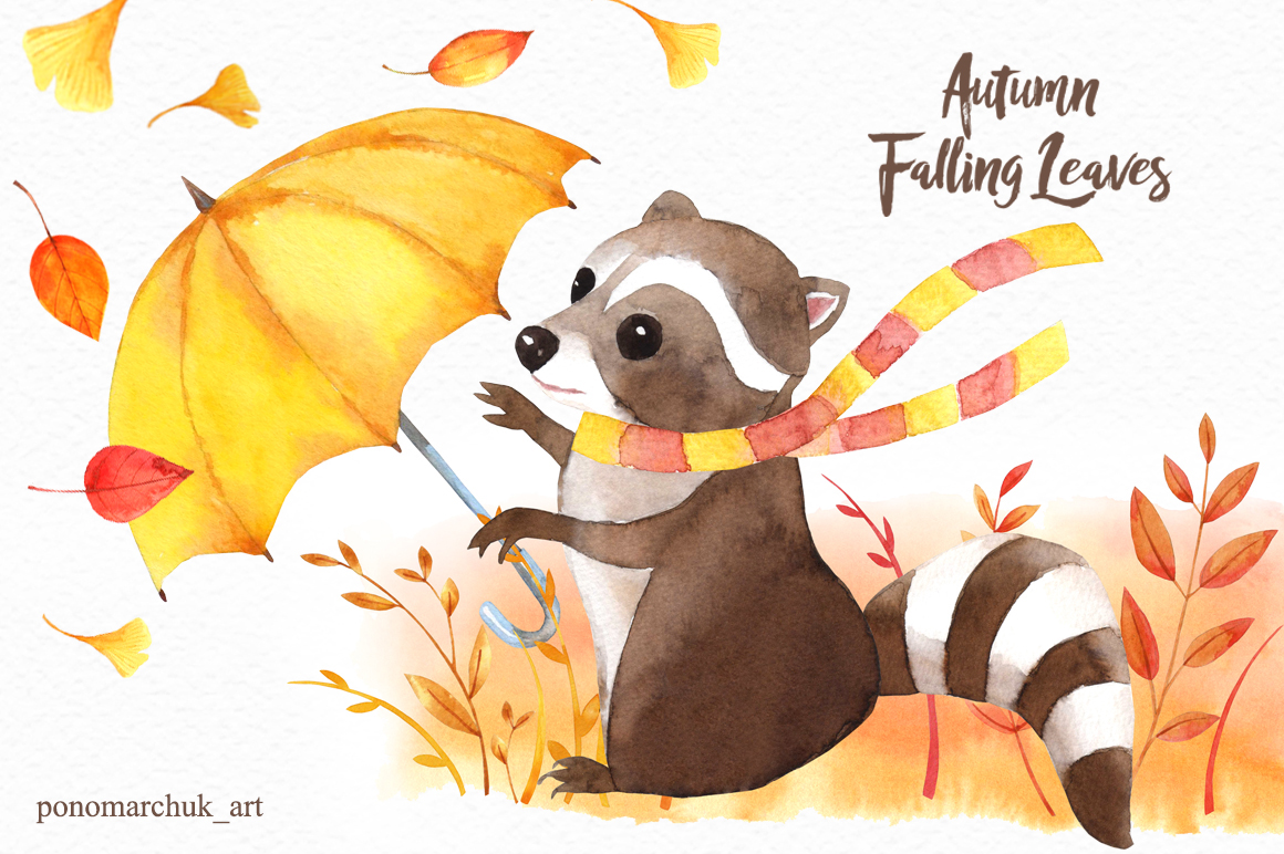 Autumn falling leaves example image 4