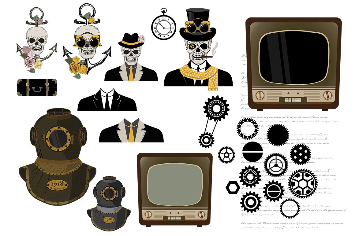 STEAMPUNK Bundle example image 6
