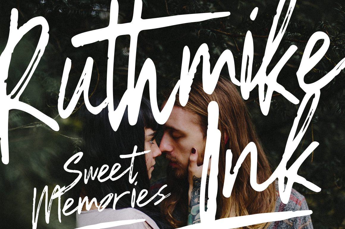 Ruthmike Brush Font - 20% OFF example image 1