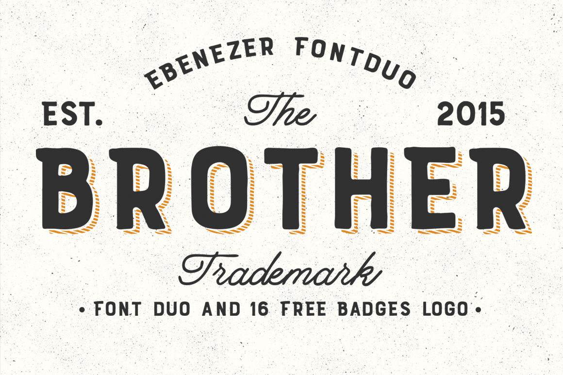 Brother font duo 16 badges logo by fo font bundles brother font duo 16 badges logo example image 1 stopboris Images