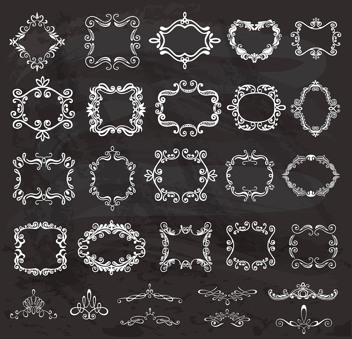 Set of vintage frames and monograms example image 15