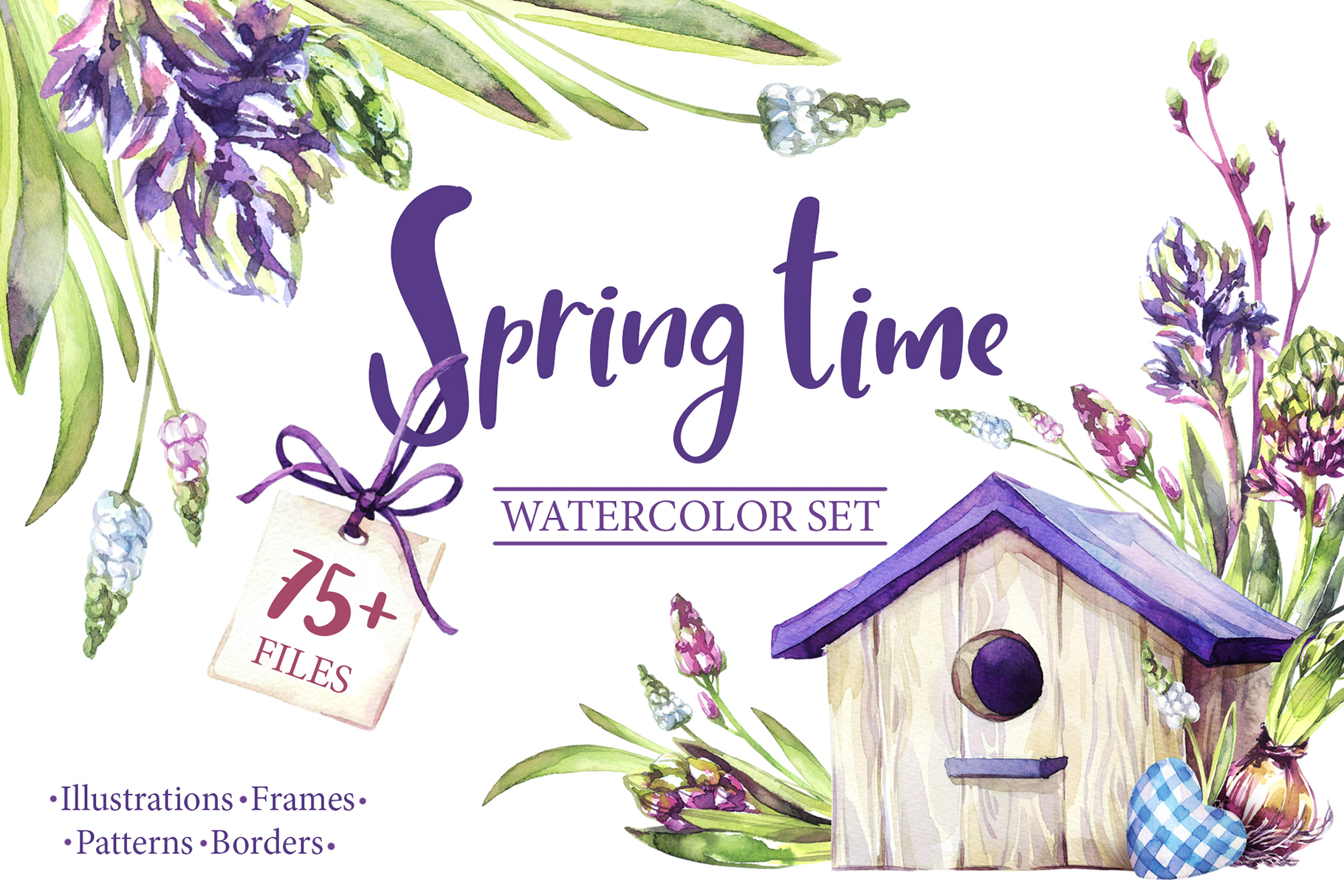 Spring Time Watercolor Collection Example Image 1