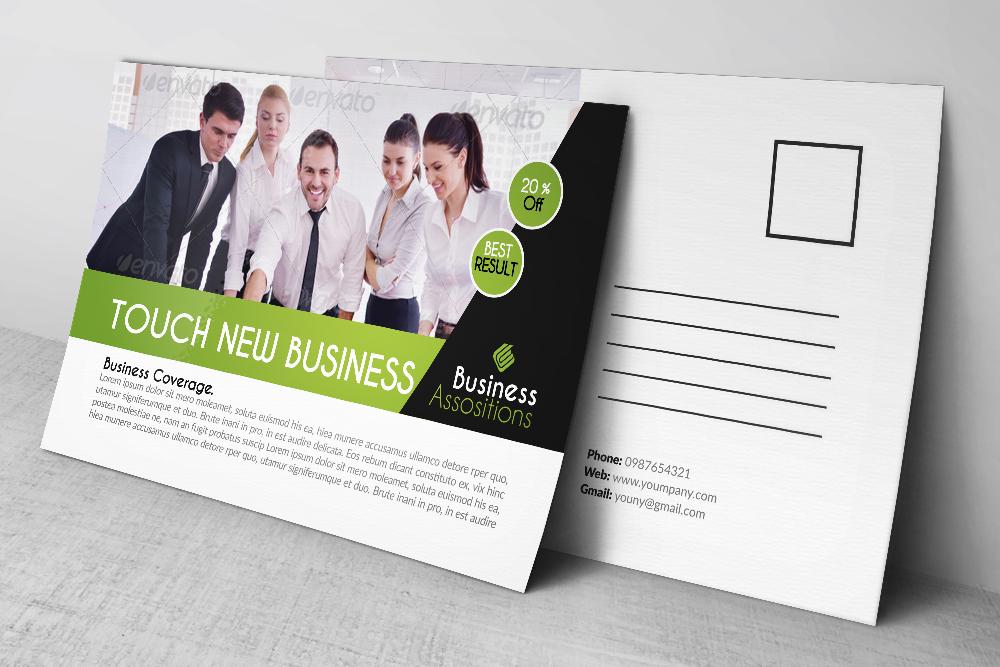 Business PostCard by Designhub719 | Design Bundles
