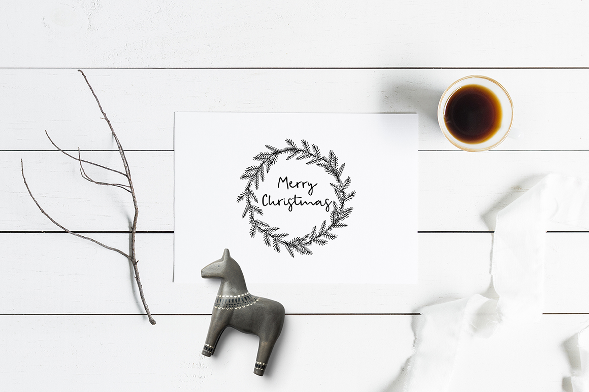 Snowy Christmas script font & logos example image 11