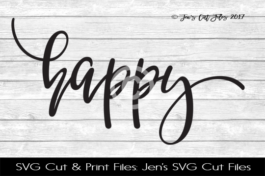 Happy SVG Cut File example image 1