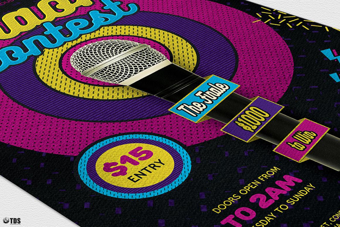 Karaoke Flyer Template V6 example image 6
