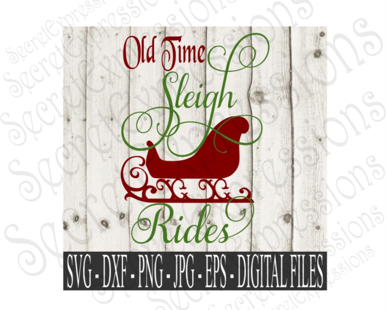 Old Time Sleigh Rides by SecretExpressi | Design Bundles