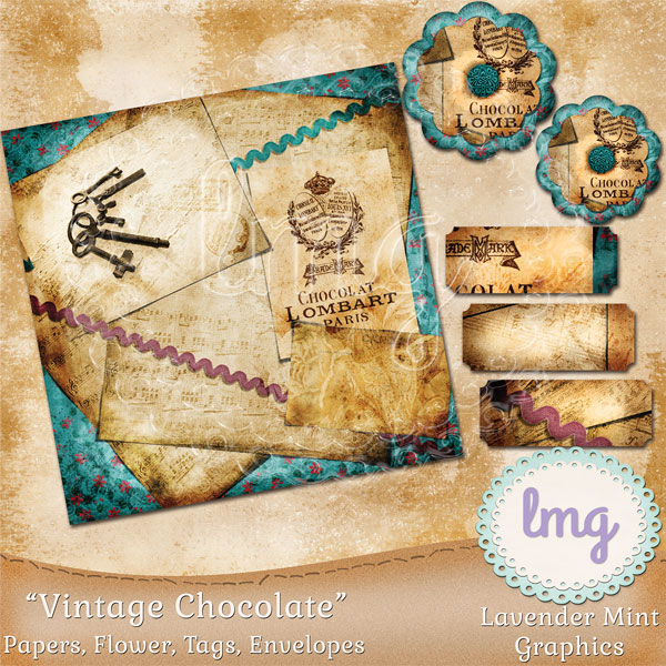 Vintage Chocolate Junk Journal Kit example image 2