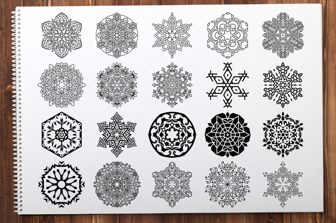 500 Vector Mandala Ornaments example image 19
