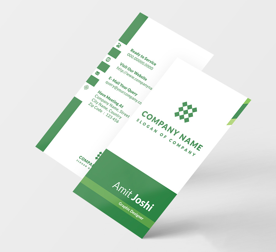4 Solid Color Vertical Business Card by | Design Bundles