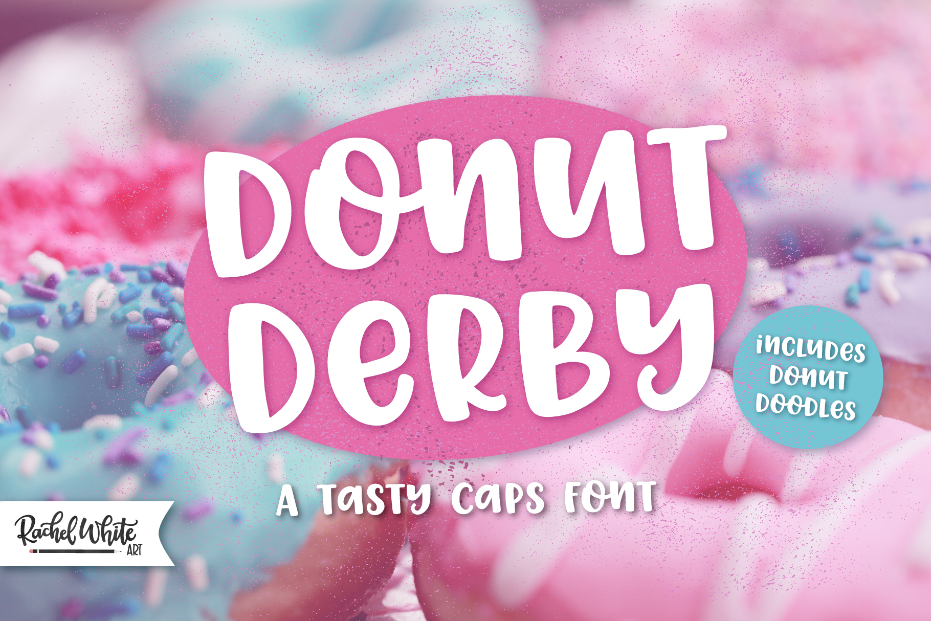 Donut Derby, a tasty caps font example image 1