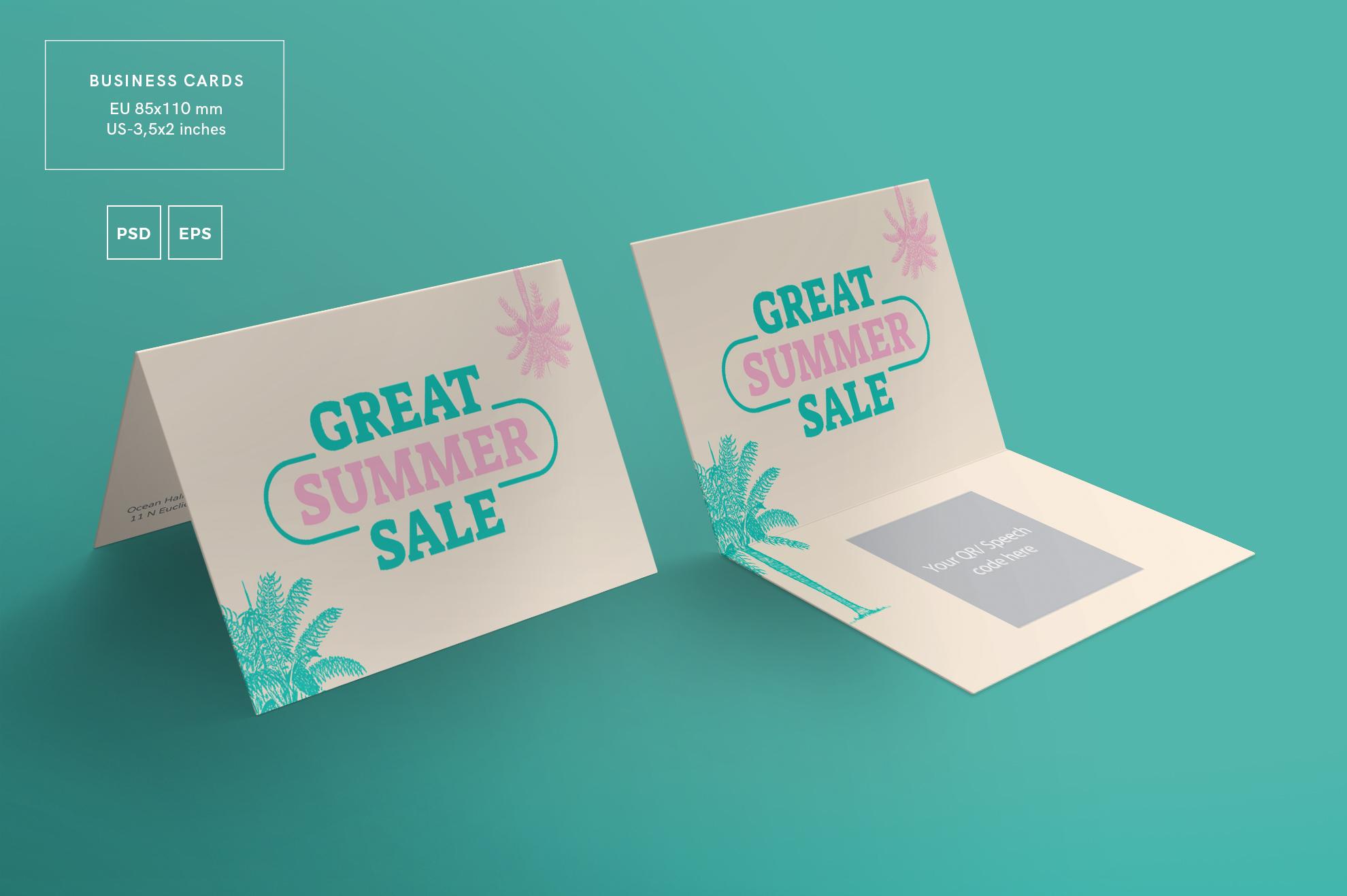 Great Summer Sale Business Card Design | Design Bundles