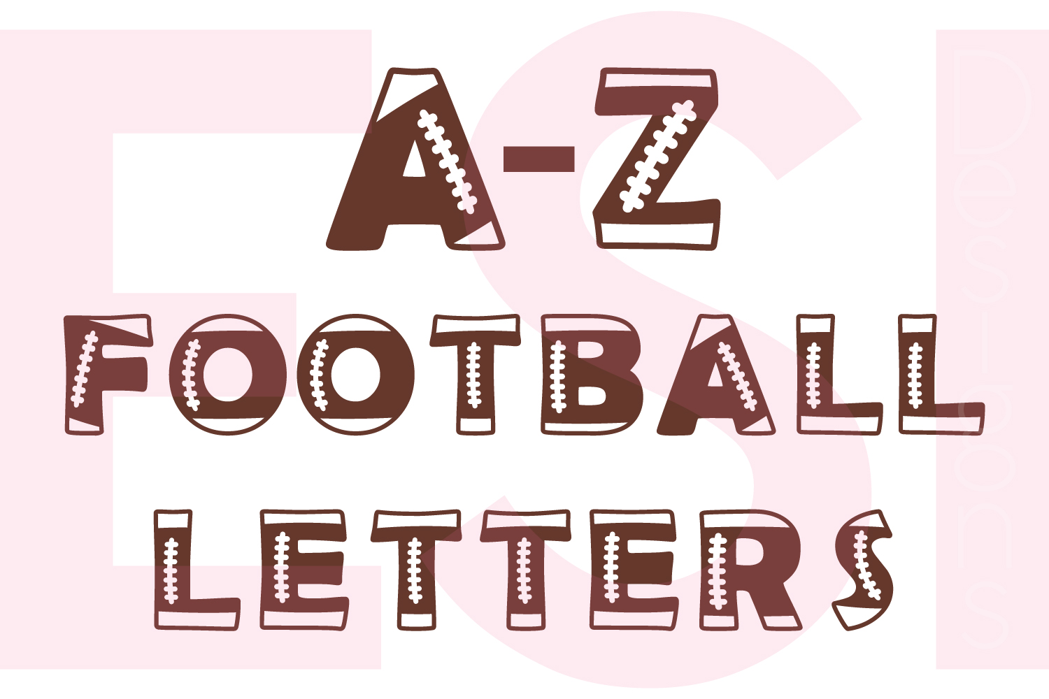 Football Letters - Full A-Z Alphabet example image 1