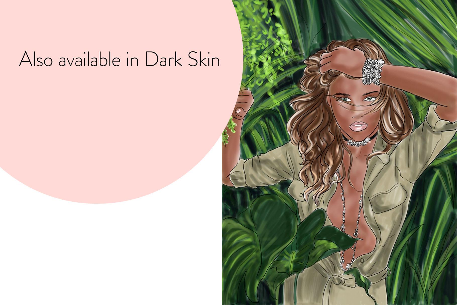 Fashion illustration - Jungle Fever - Light Skin example image 4