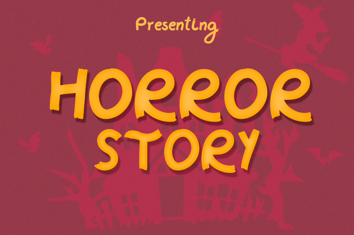 Horror Story Font - A Spooky Brush Font example image 1