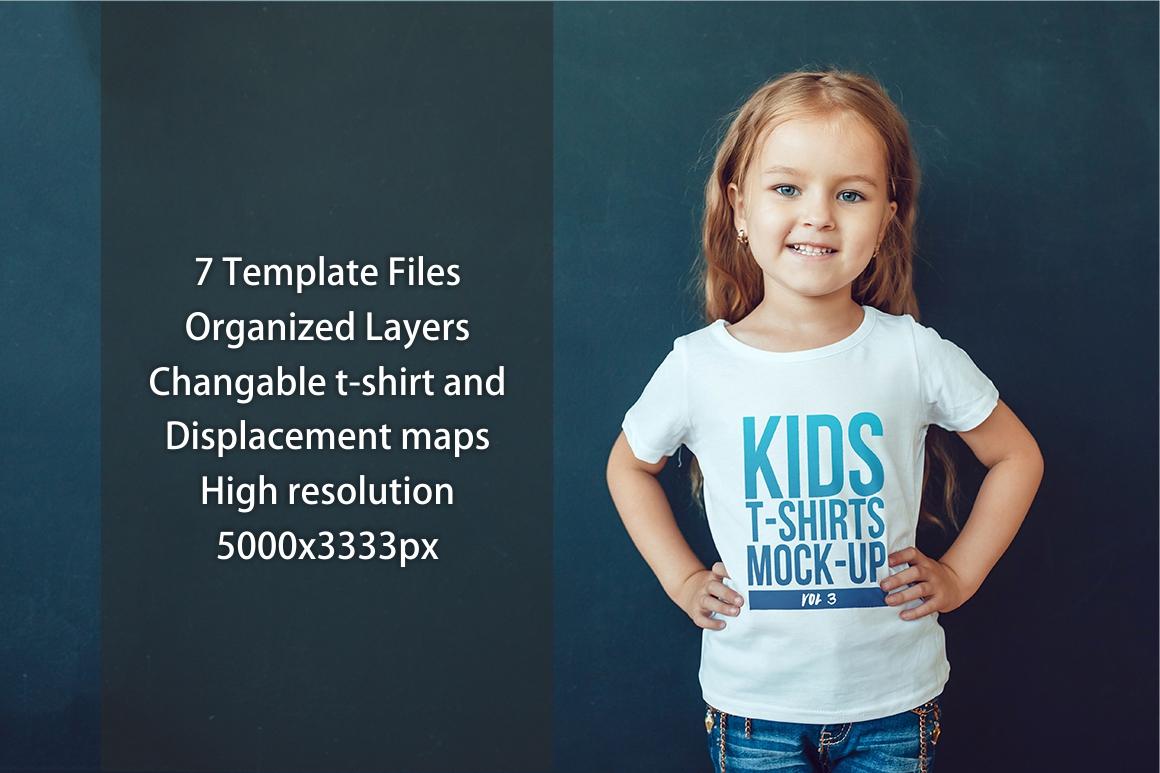 Kids T-Shirt Mock-Up Vol 3 example image 2