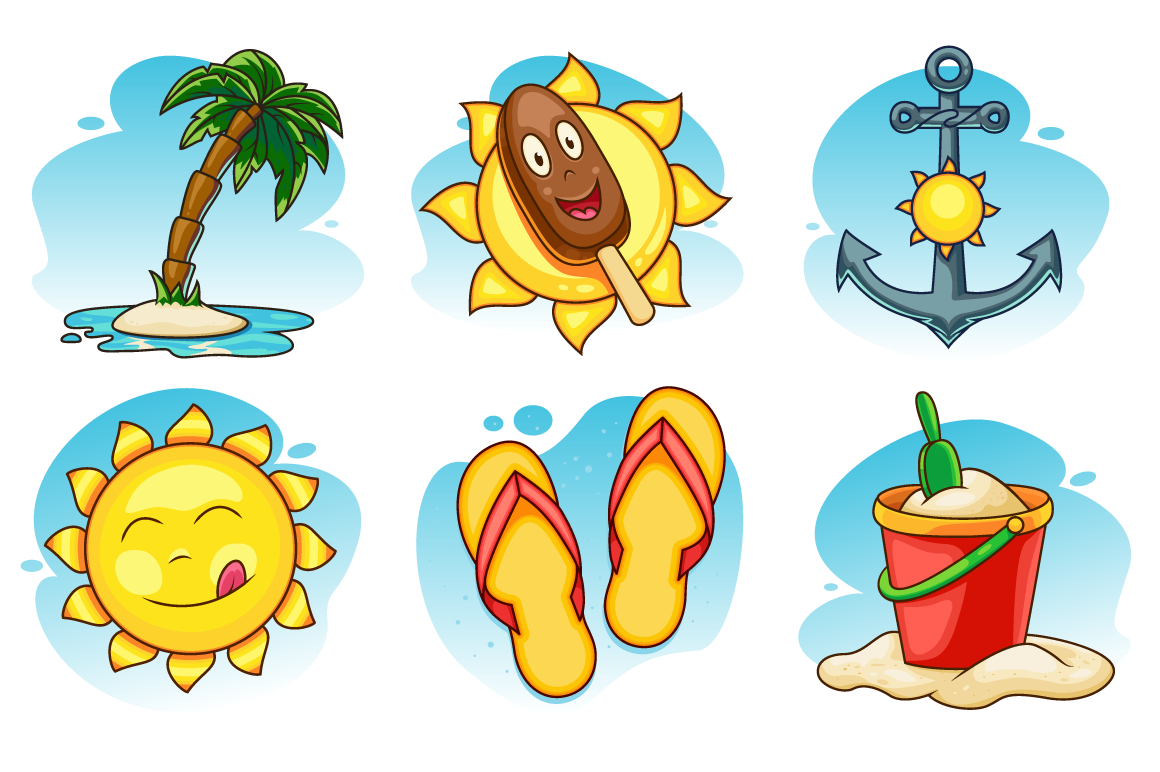 Summer Vector Icons Set example image 1