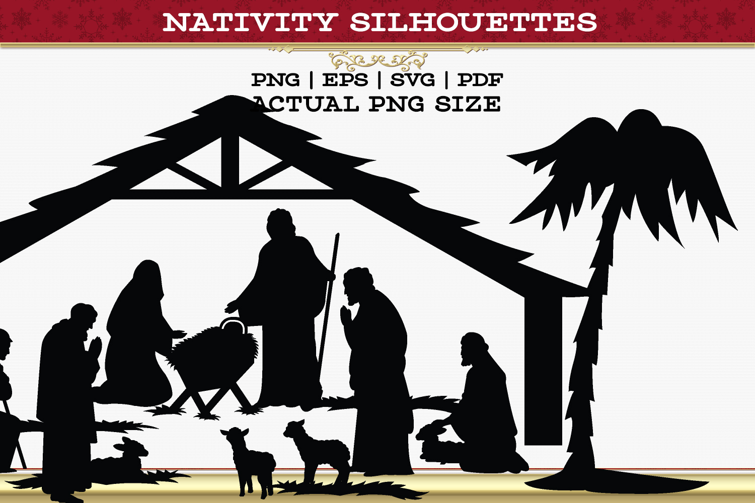 Nativity Silhouettes example image 3