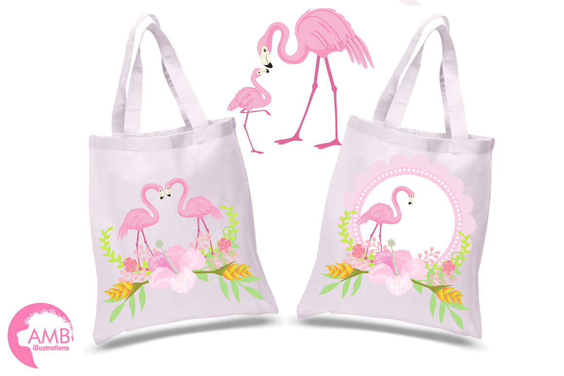 Flamingos clipart mega pack, graphics, illustrations AMB-1047 example image 2