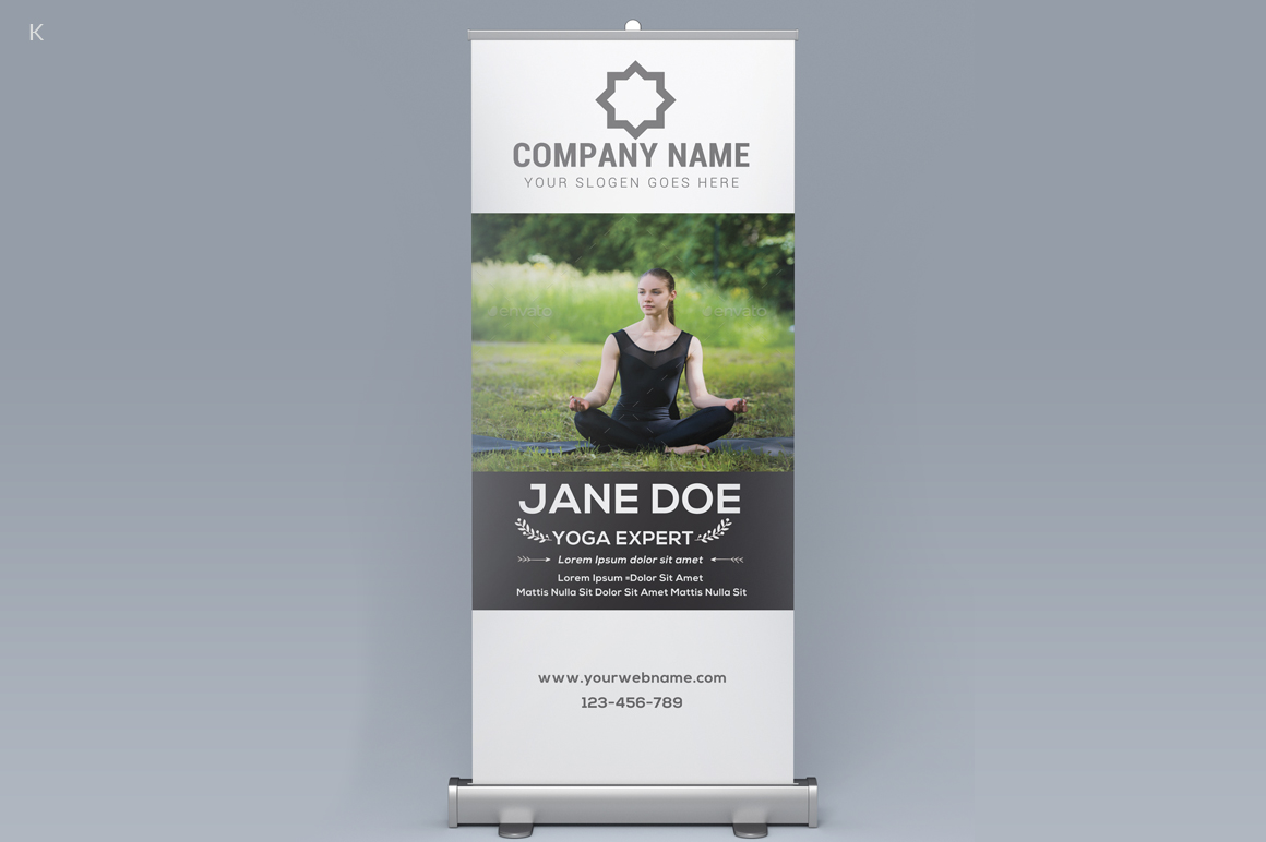 yoga rollup banner example image 3