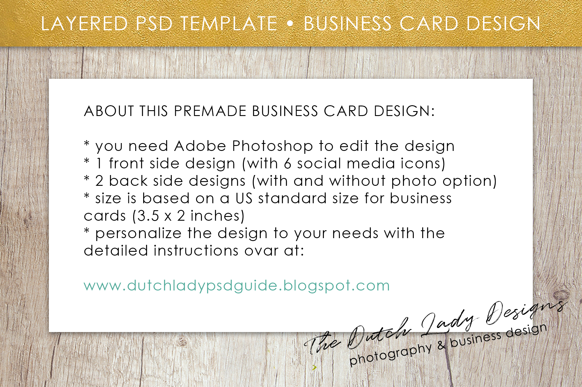Business Card Template for Adobe Photos | Design Bundles