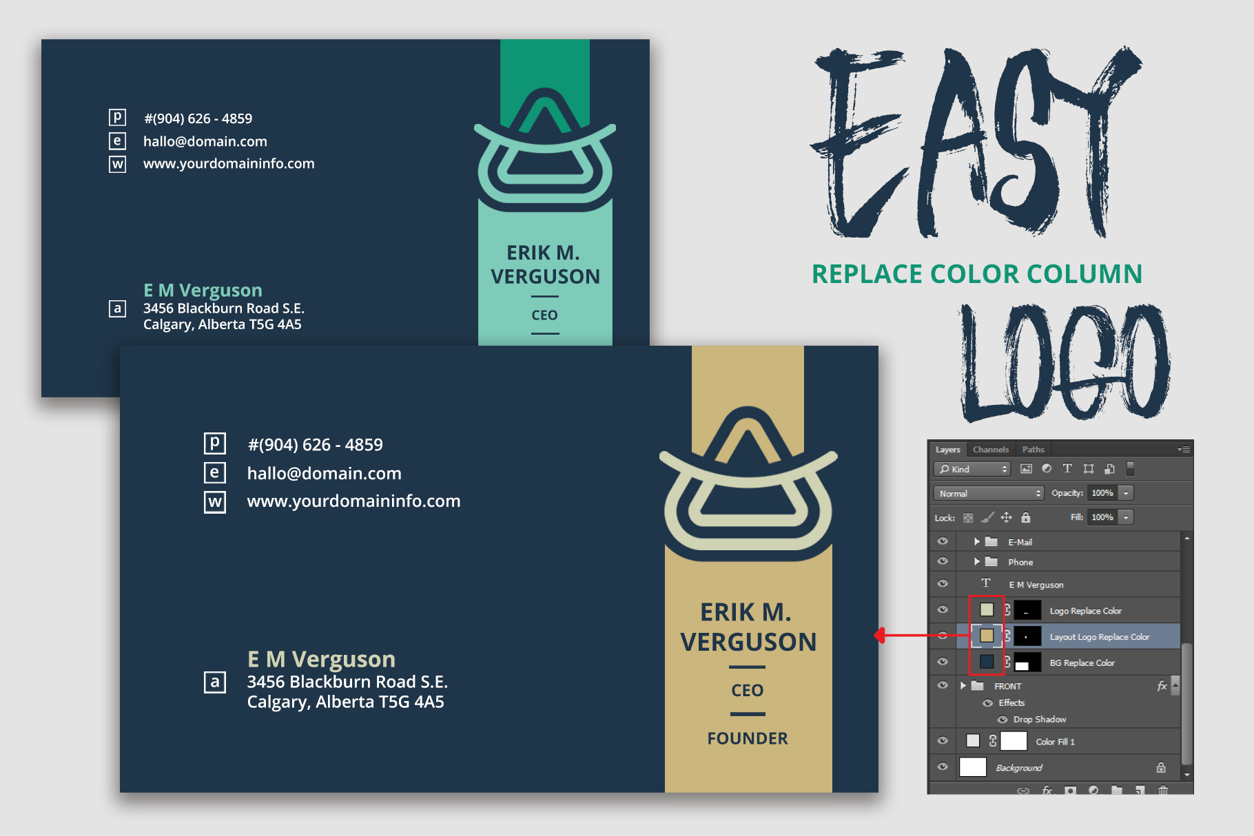 Smart business card template by ndroadv design bundles smart business card template example image 2 reheart Choice Image