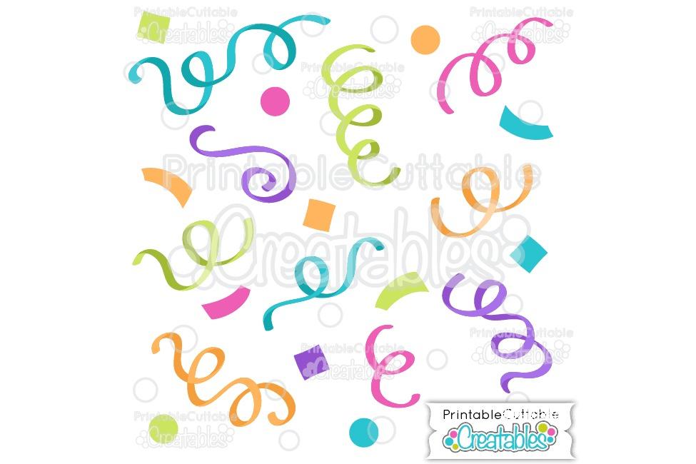 Birthday Confetti SVG Cut File & Clipart