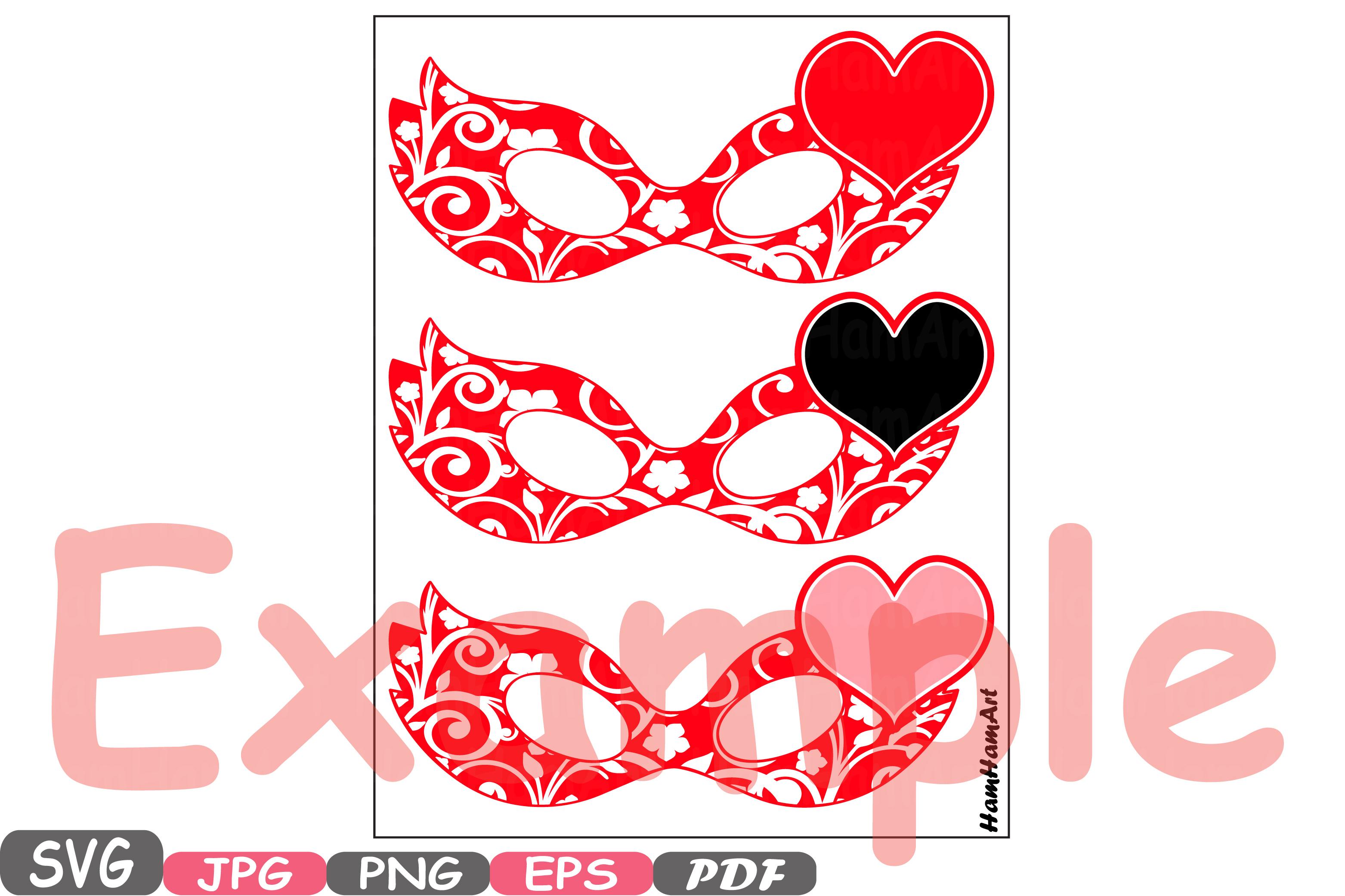 Wonderful Props Valentine's Day Mask Silhouette C | Design Bundles YG38