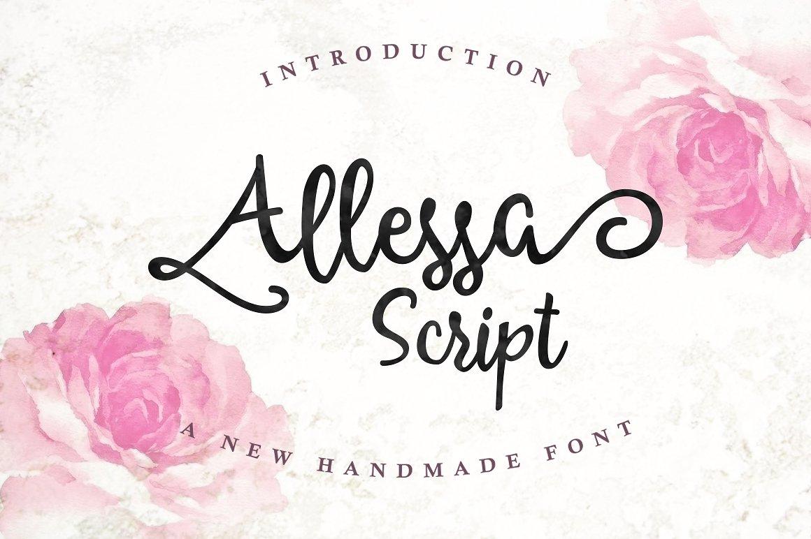 Allessa Script example image 1