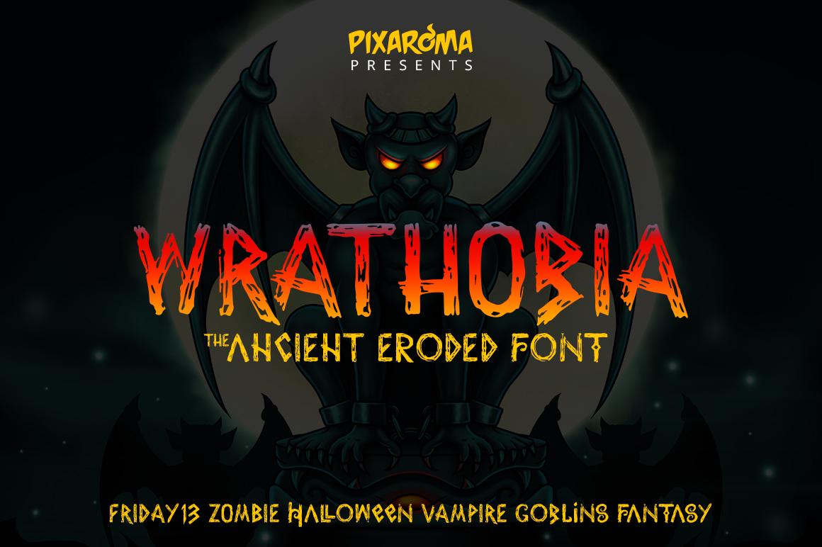 Wrathobia Display Font example image 1