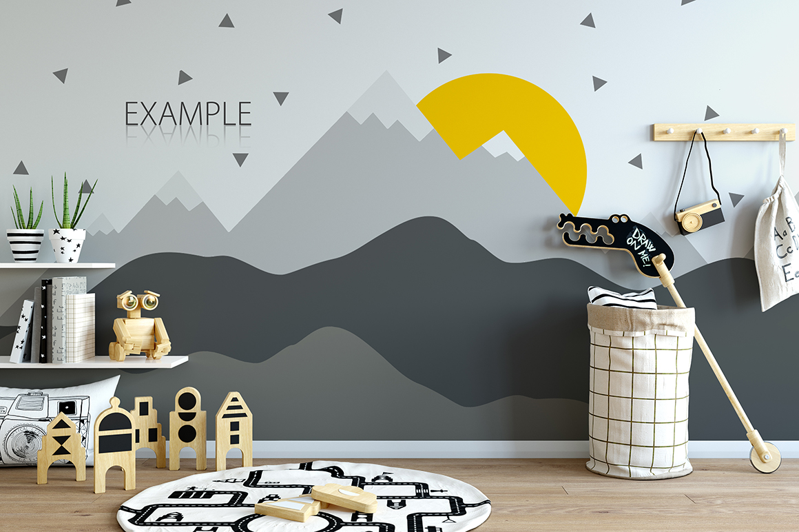 KIDS WALL & FRAMES Mockup Bundle - 2 example image 4