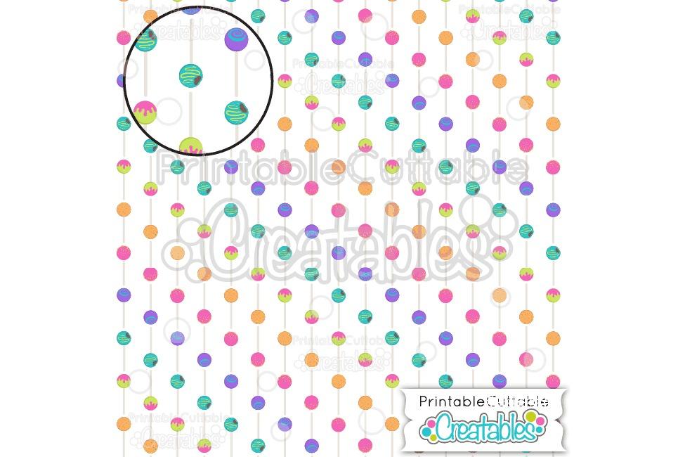 Birthday Cake Pops Digital Paper & Seamless Pattern