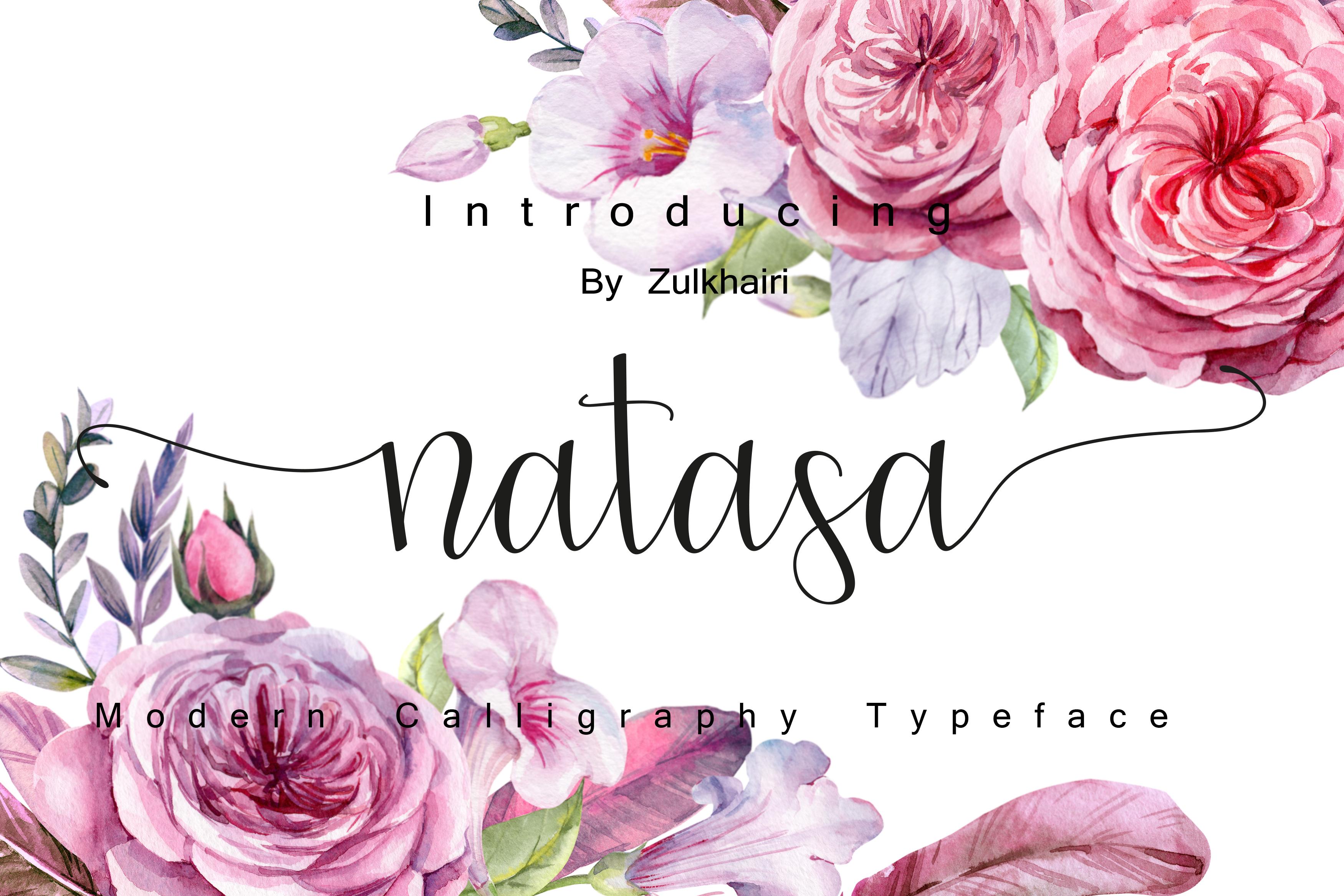 Natasa script | font duo example image 5
