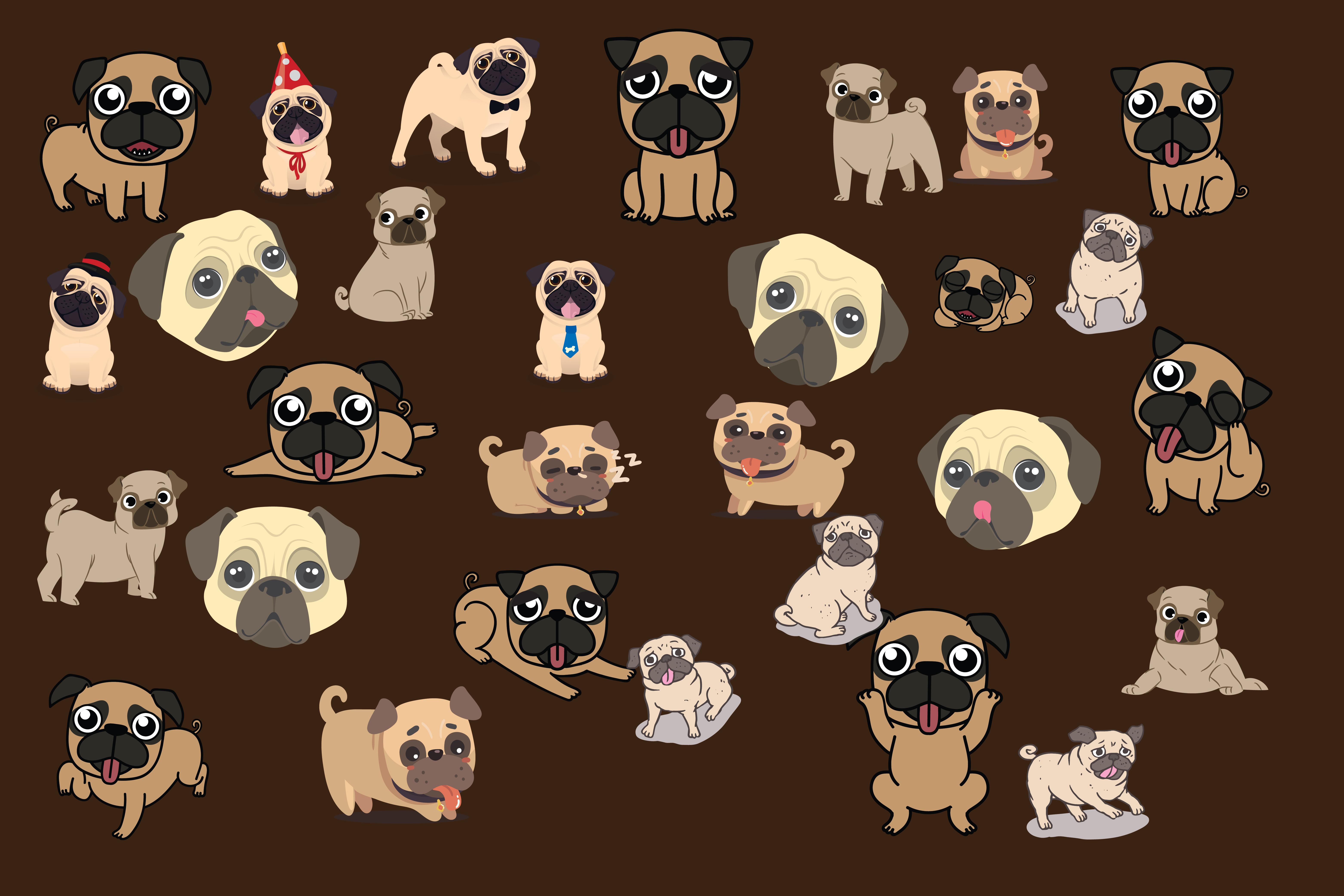 pugs,cute pugs,pug dogs,dogs,pug,animals,forest animals,wild animals,dog example image 2