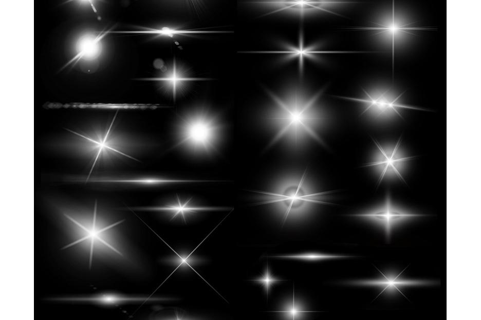 Lens Flare & Stars Photoshop Brushes example image 4
