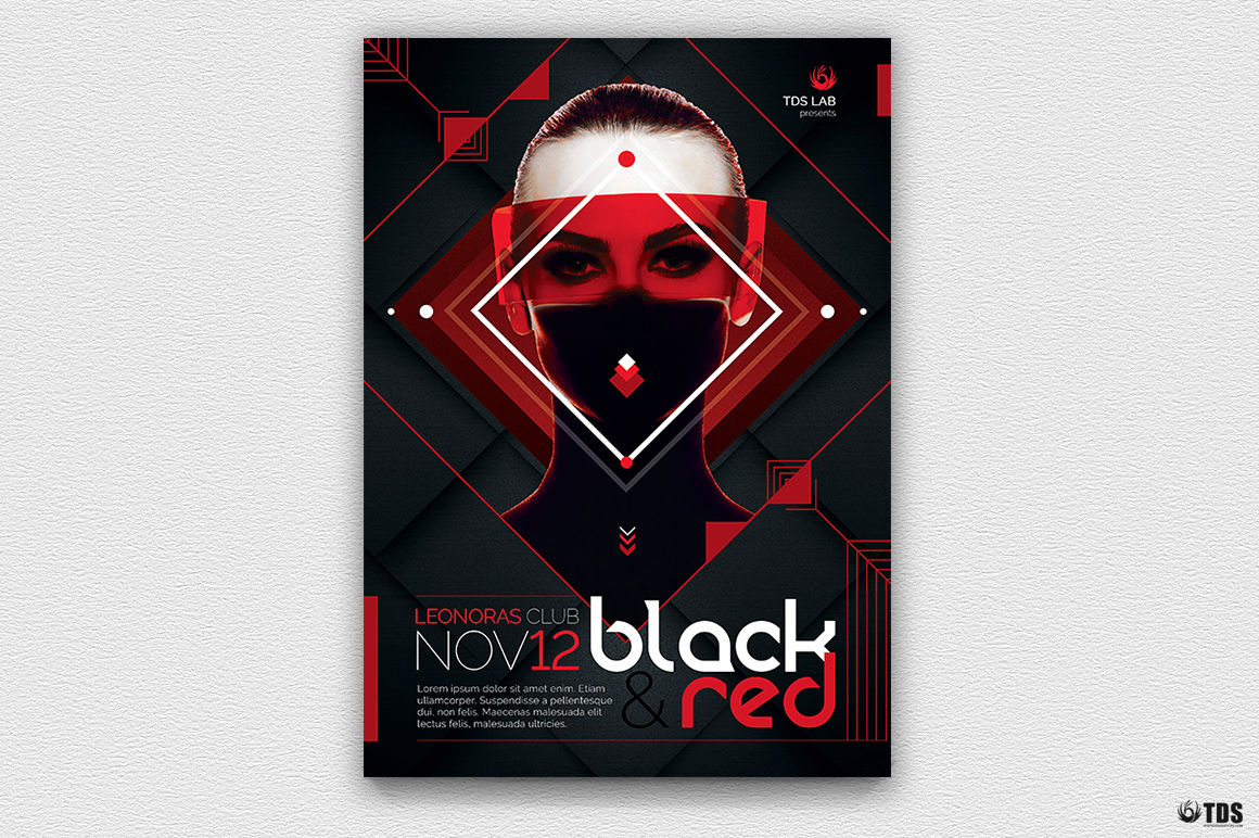 Black and Red Flyer Template V4 example image 2