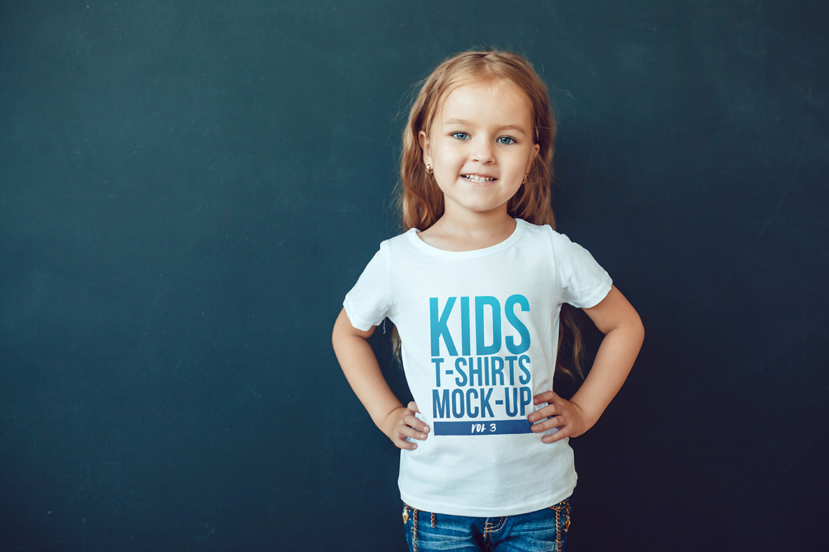 Kids T-Shirt Mock-Up Vol 3 example image 5